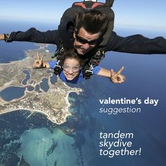 A tandem skydive is a great way for both of you to experience something truely amazing. Build some wonderful memories that you'll take with you for the rest of your life. Adventure Gifts, Greatest Adventure, Balloon Flights, Yarra Valley, Going Solo, Experience Gifts, Gift Suggestions, Above The Clouds