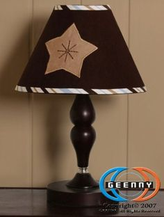 $14.99-$20.99 Baby Geenny CF-201-L Moon Star Lamp Shade - Color:Blue-Brown  Moon and Star Lamp Shade A Geenny children's lamp shade which is especially designed to coordinate with its nursery bedding set to help complete the look and feel of your little one's nursery.  Care: Spot clean http://www.amazon.com/dp/B0027KPAFQ/?tag=pin2baby-20