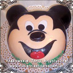 045. Tort 2D z głową Myszki Mikki. Mikki Mouse cake.