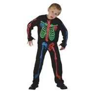 Skelet kostuum kind Halloween (120-130)