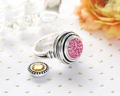 """The Dotte """"Nest"""" Ring is a favorite among customers. With loads of interchangeable dotties, this ring is perfect for every outfit! Cute Jewelry, Body Jewelry, Vintage Jewelry, Jewelry Accessories, Lottie Dottie, Ginger Snaps, Sparkle, Bling, Stud Earrings"""