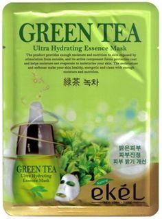 EKEL Natural Beauty Green Tea Ultra-Hydrating Facial Mask Sheet Pack 1PCS #EKEL