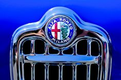 1956 Alfa Romeo Sprint Veloce Coupe Ultra Light Grille Emblem - Jill Reger  - Prints for sale