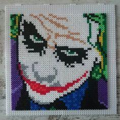The Joker (Heath Ledger) hama beads by tattoo_weib - Pattern: https://de.pinterest.com/pin/374291419010597183/