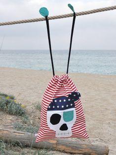 Bolsa tela calavera pirata por madeama en Etsy