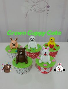 Line character cupcakes