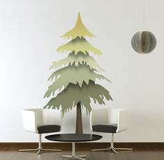 Don't just pine for nature. Bring it into your room with this evergreen tree wall decal!   Starting at $81.00.