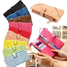 New Women Fashion Leather Wallet Button Clutch Purse. 1 New Women Fashion Leather Wallet Button Clutch Purse. types of bags:wallet. High quality faux leather material, health, environmental protection wear-resisting durable, you can keep your card or money or any other things in it where you are, every one like it! | eBay!