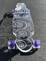 Swirl Ghost Board – Ghost Long Board Penny Skateboard, Electric Skateboard, Longboard Design, Skateboard Design, Vans Girls, Surf Girls, Light Em Up, Tumblr Quality, Abercrombie Girls