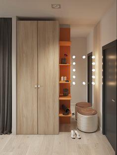 Contemporary studio apartment on Behance