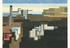 ADAM LISTER - WET GEOMETRY #ShootingGallery #geometric #Watercolor #contemporaryart #Dali