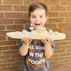 Wooden Toys USS Monitor and CSS Virginia Merrimack Wood Toy Boats Ships Civil War Confederate Battleships Handmade Kids Boys Birthday gift Handmade Wooden Toys, Handmade Paint, Wooden Airplane, Modern Toys, Plan Toys, Birthday Gifts For Boys, Wooden Projects, Toy Trucks, Woodworking Wood