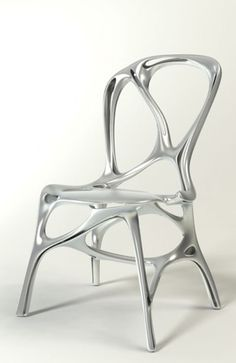 Shelly, Modern Natural Aluminum Chair by Peter Donders