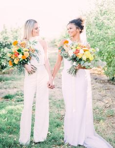 Same Sex Wedding Inspiration with Bright Citrus Decor – Alycia Moore Photography 27 Add color and a zesty burst of life to your wedding with fruity decors! #bridalmusings #bmloves #decor #citrus #weddingdecor #orange #ido #weddinginspo #weddinginspiratio #coolbride