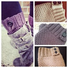 Custom Boot Cuffs with Buttons, Boot Toppers, Leg Warmers, Knit Boot Cuffs on Etsy, $25.00