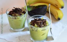 CREMA DE BANANE SI AVOCADO - Rețete Fel de Fel Avocado Recipes, Yams, Vegan Sweets, Healthy Nutrition, Raw Vegan, Stevia, Deserts, Yummy Food, Yummy Recipes