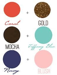 what colours go with tiffany blue - Google Search