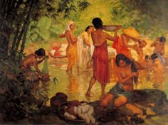 """Fernando Amorsolo y Cueto, Filipino painter, was an important influence on contemporary Filipino art and artists, even beyond the so-called """"Amorsolo school"""". Subjects: Philippine Genre, historical and society Portraits. Filipino Art, Filipino Culture, Manila, Philippine Art, Philippines Culture, Asian Art, Impressionism, Female Art, Art History"""