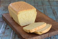 Fluffy Keto Bread with 6 ingredients -- almond flour, eggs, egg white protein, salt, baking soda, cream of tartar. Perfect low-carb high-fat sandwich bread!