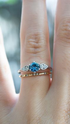 How would you wear your sapphire & vintage diamond engagement ring? By…