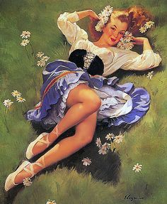 """""""Lazy Days Are Here Again"""" by Gil Elvgren ❥