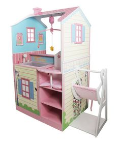 This Pink Baby Nursery Dollhouse by Teamson Kids is perfect! #zulilyfinds