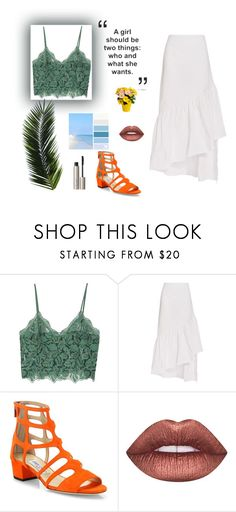 """B.E.A.C.H"" by ricardo-vitorino on Polyvore featuring moda, MANGO, Isa Arfen, Jimmy Choo, Lime Crime, Ilia e summerstyle"