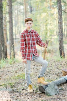 rustic camping engagement outfit for him