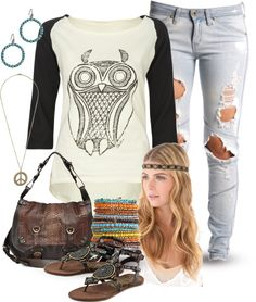 """A little Hippy"" by jayneann1809 on Polyvore"