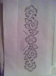 Janlynn Embroidery Kit, by Butterfly Floral - Embroidery Design Guide Rangoli Border Designs, Border Embroidery Designs, Hand Embroidery Patterns, Embroidery Kits, Floral Embroidery, Embroidery Stitches, Machine Embroidery, Mehndi Designs Book, Tambour Embroidery
