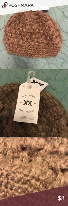 Crotchet Beanie Soft crotchet beanie. New with tags never worn! KK Accessories Hats