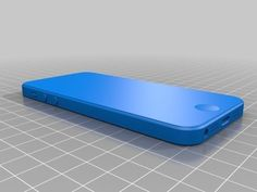 iPhone5 mockup on Thingiverse. Useful if (as negative space) if you're designing cases/accessories for printing.