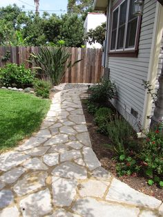 Fairy Yardmother Landscape Design: Broken Concrete/Urbanite Pathways