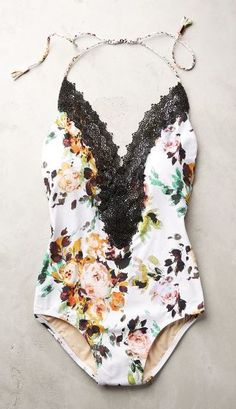 Lace-Front Maillot - Trendslove