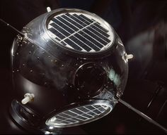 "55 Years Ago Today: GRAB-1, the world's first successful reconnaissance satellite, was launched.  Pictured here is the backup model for GRAB-1 on display in the ""Space Race"" gallery at our Museum in Washington, DC."