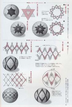 темари хризантема кику экватор ромбы - Пошук Google