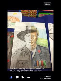 Awesome Anzac/remembrance artwork by an unknown year 6 student. Remembrance Day Activities, Remembrance Day Art, Anzac Soldiers, Ww1 Art, Armistice Day, Anzac Day, Expressive Art, Middle School Art, World War One
