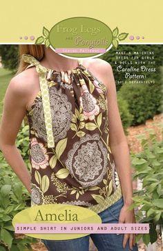 Instant Download PDF Sewing Pattern - Amelia Women's Shirt - size XXS - XL