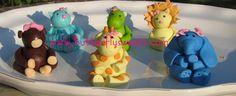 Marshmallow Fondant Cake Ideas | images of fondant zoo animals cowboy and horse mermaid figure ...