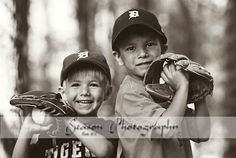 Two boys, baseball © Season Photography