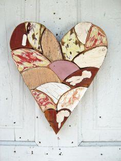 Mosaic Heart Reclaimed Wood