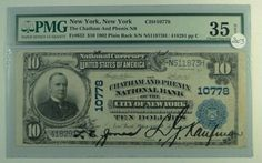 US Bill 1902 $10 National Currency Note