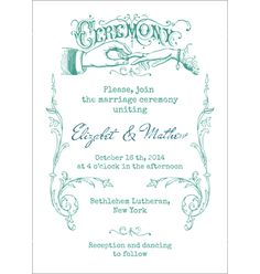 Wedding invitation card vector 1016860 - by woodhouse84 on VectorStock®