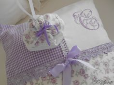 Cross stitch, lace, monogram