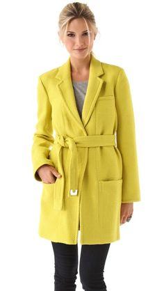 diane von furstenberg victoria jacket - neon
