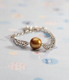 Harry Potter Bracelet Silver Harry Potter pearl by diychenmade, $1.29