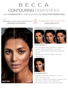 Define Your Light: Learn an easy way to create more angular cheeks in one continuous sweep, from Becca.