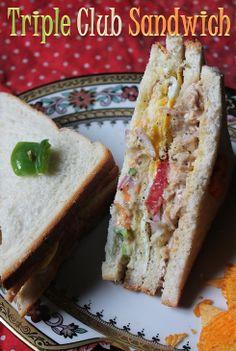 35 Easy Sandwich Recipes - Veg & Non Veg Sandwich Recipes - Best Sandwich Recipes - Yummy Tummy Bread Sandwich Recipe Indian, Bread Snacks Recipe, Veg Sandwich, Best Sandwich Recipes, Soup And Sandwich, Snack Recipes, Cooking Recipes, Indian Breakfast, Breakfast Items