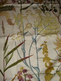 BRAEMORE FERN LEAF WOODS BOTANICAL FLORAL GREEN CREAM MULTI PRINT FABRIC 4.53 YD | eBay