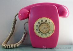 ANTIGUO TELEFONO HERALDO CITESA DE PARED RESTAURADO EN COLOR ROSA VINTAGE RETRO POP